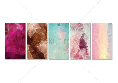 Geometrics : Collection of faceted wallpapers for mobile phone