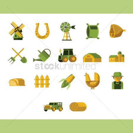 Agriculture : Collection of farm icons