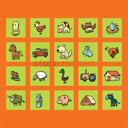 Agriculture : Collection of farming elements