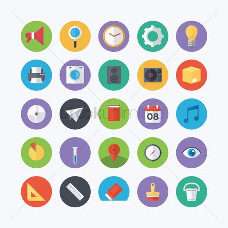 Setting : Collection of flat icons