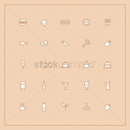 Cones : Collection of food icons