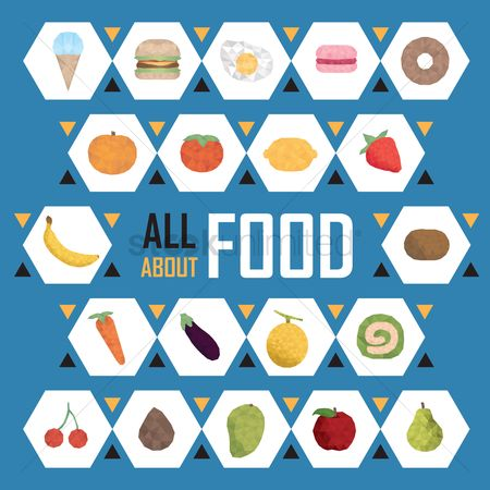 Mangoes : Collection of food icons