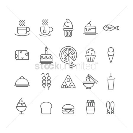 Soda drink : Collection of food icons