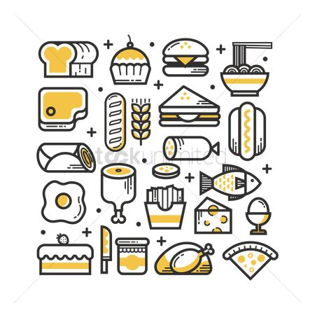 French : Collection of food items