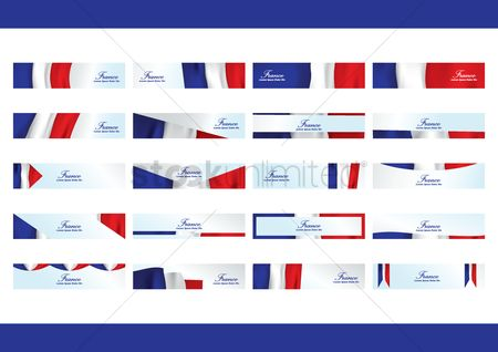Tricolored : Collection of france banners