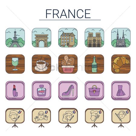Croissants : Collection of france icons