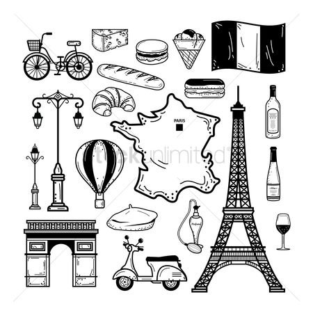 French : Collection of french icons