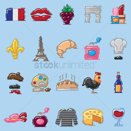 Croissant : Collection of french related objects