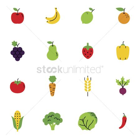 Lettuce : Collection of fruits and vegetables