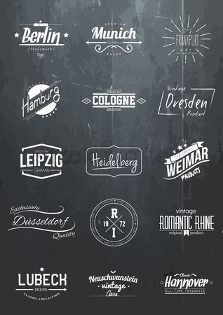 Blackboard : Collection of germany brand icons