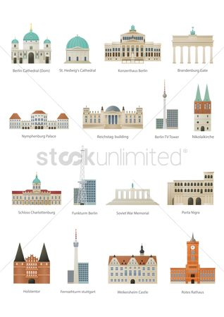 Towers : Collection of germany monuments
