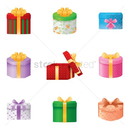 Open : Collection of gift boxes
