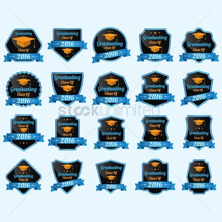 Achievement : Collection of graduating class of 2016 badges