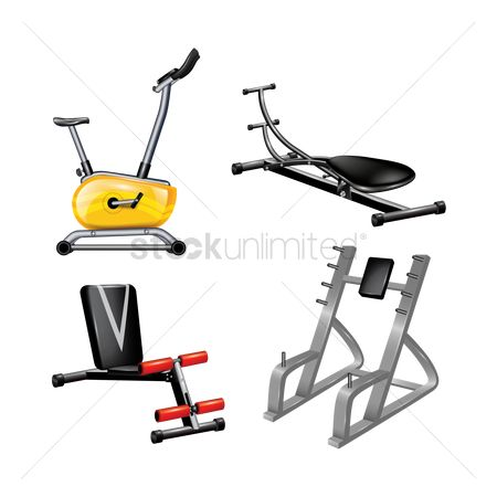 Stationary : Collection of gym equipment