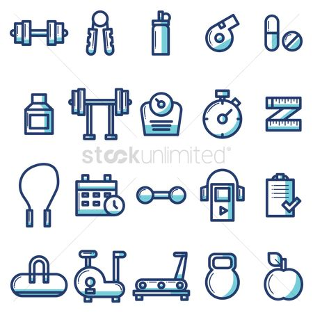 Medicines : Collection of gym equipment