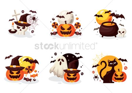 Festival : Collection of halloween designs
