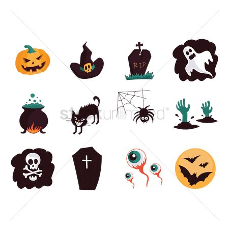 Oct : Collection of halloween items
