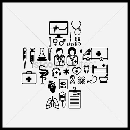 Health cares : Collection of health icons