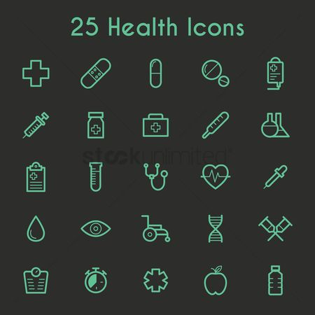 Medicines : Collection of health icons