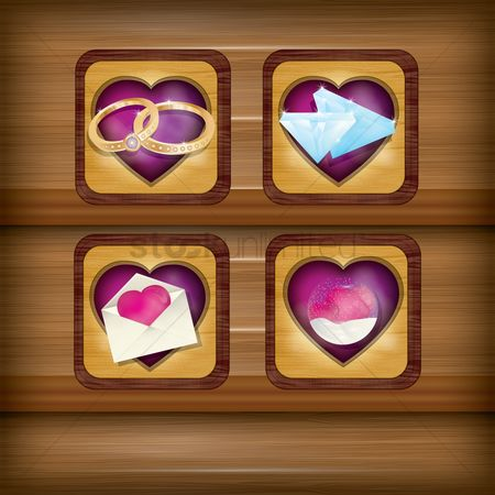 Engagements : Collection of heart items