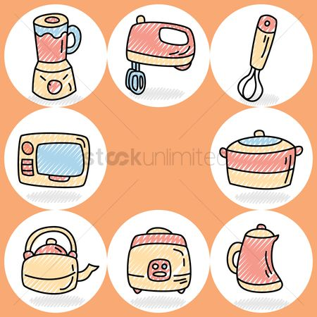 Teapot : Collection of home appliances icons