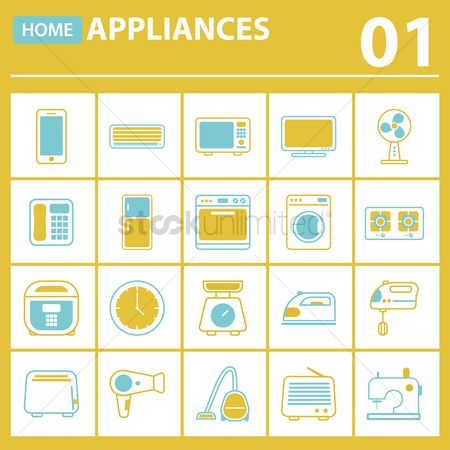 Appliances : Collection of home appliances
