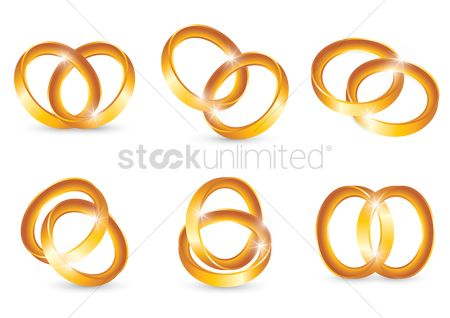 Engagements : Collection of interlocked gold ring