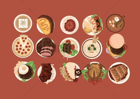 Junk food : Collection of international cuisines