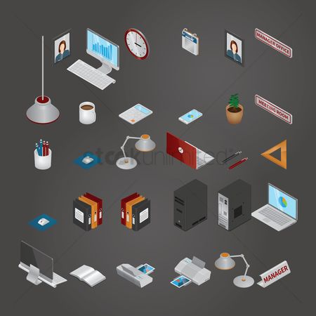 Open : Collection of isometric icons