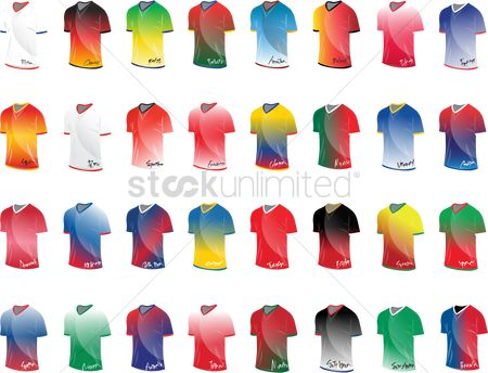 Egypt : Collection of jerseys from different countries