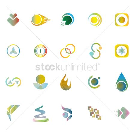 Diamonds : Collection of logo elements