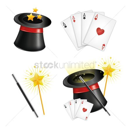 Accessories : Collection of magician equipment