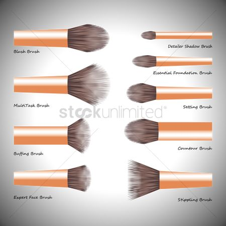 Cosmetic : Collection of makeup brushes