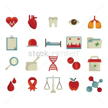 Dna : Collection of medical icons