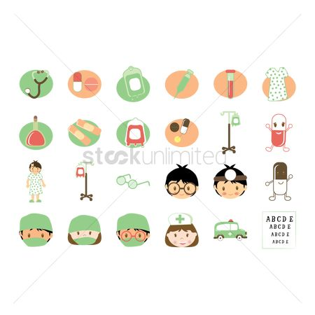 Medicines : Collection of medical related icons