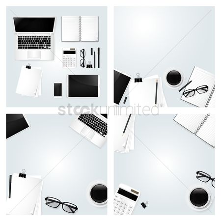 Screens : Collection of minimalist workspaces