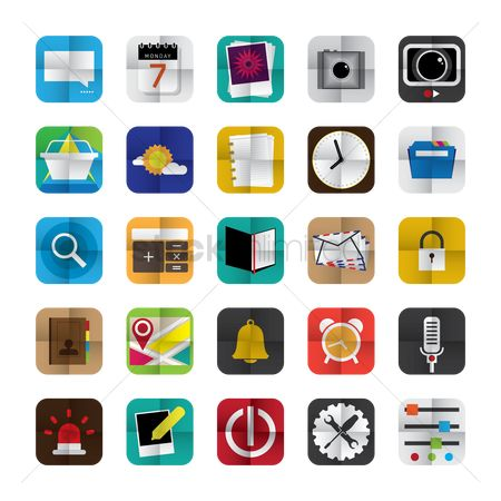 Notification : Collection of mobile app icons