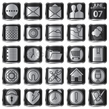 Comment : Collection of mobile app icons