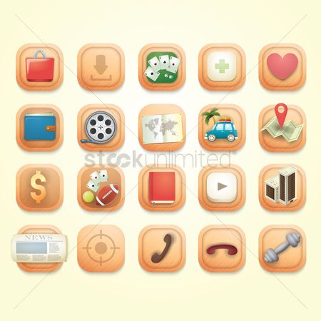 Dumb bell : Collection of mobile application icons