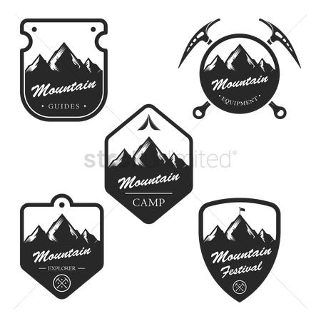 Shield : Collection of mountain labels