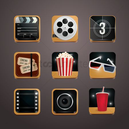 User interface : Collection of movie icons