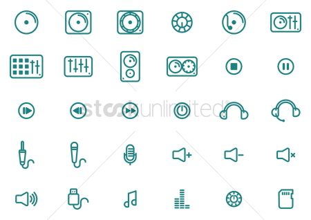 Increase : Collection of music icons