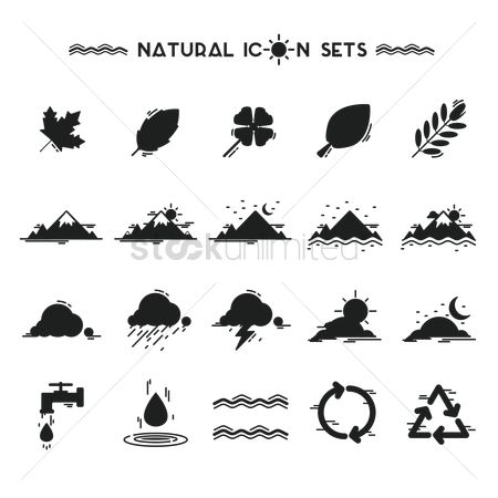 Faucets : Collection of natural icons