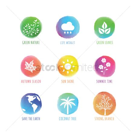 Summer : Collection of nature icons