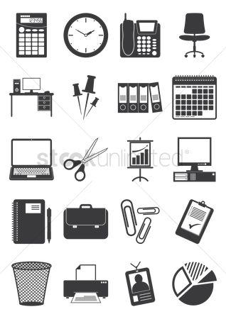 Briefcases : Collection of office icons