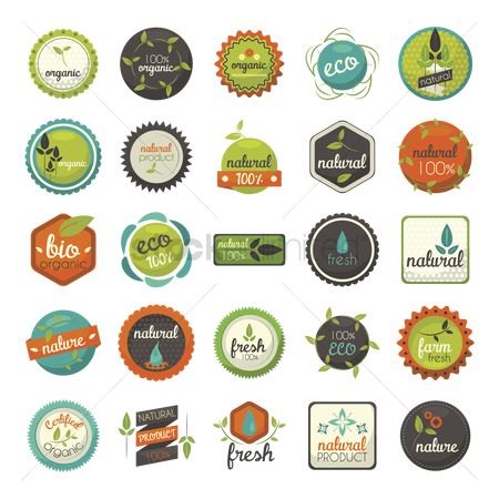 Fresh : Collection of organic food labels