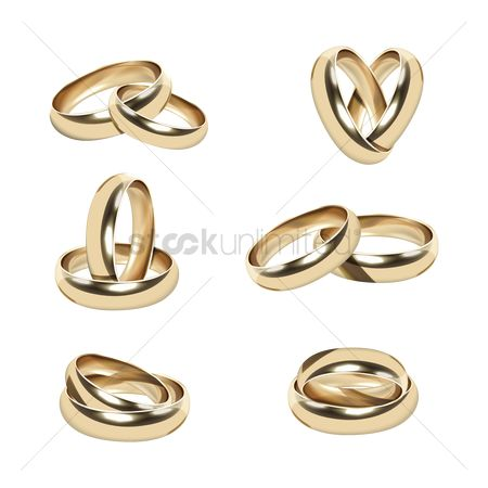 Weddings : Collection of pairs of golden rings