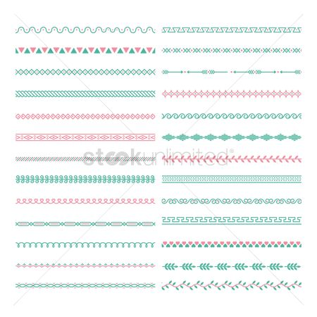 Romance : Collection of pattern border designs