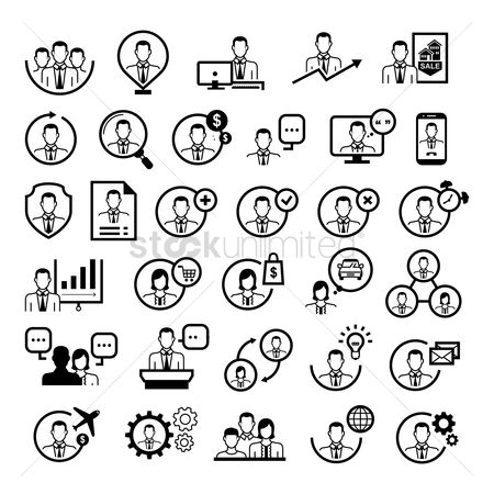 Entrepreneur : Collection of people icons