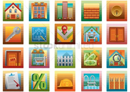 Builder : Collection of property related icons